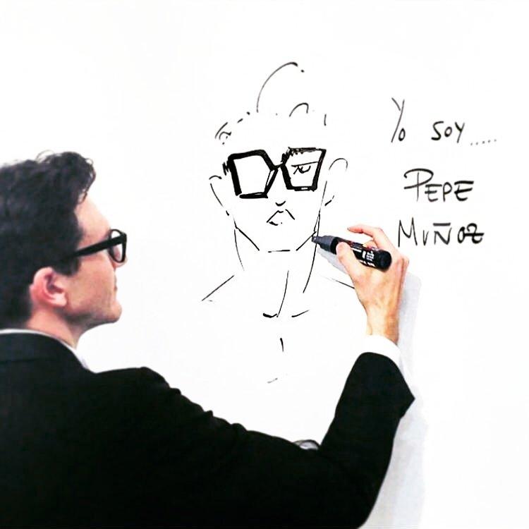 Pepe Muñoz profesor de ESAEM Celine Dion ilustrador