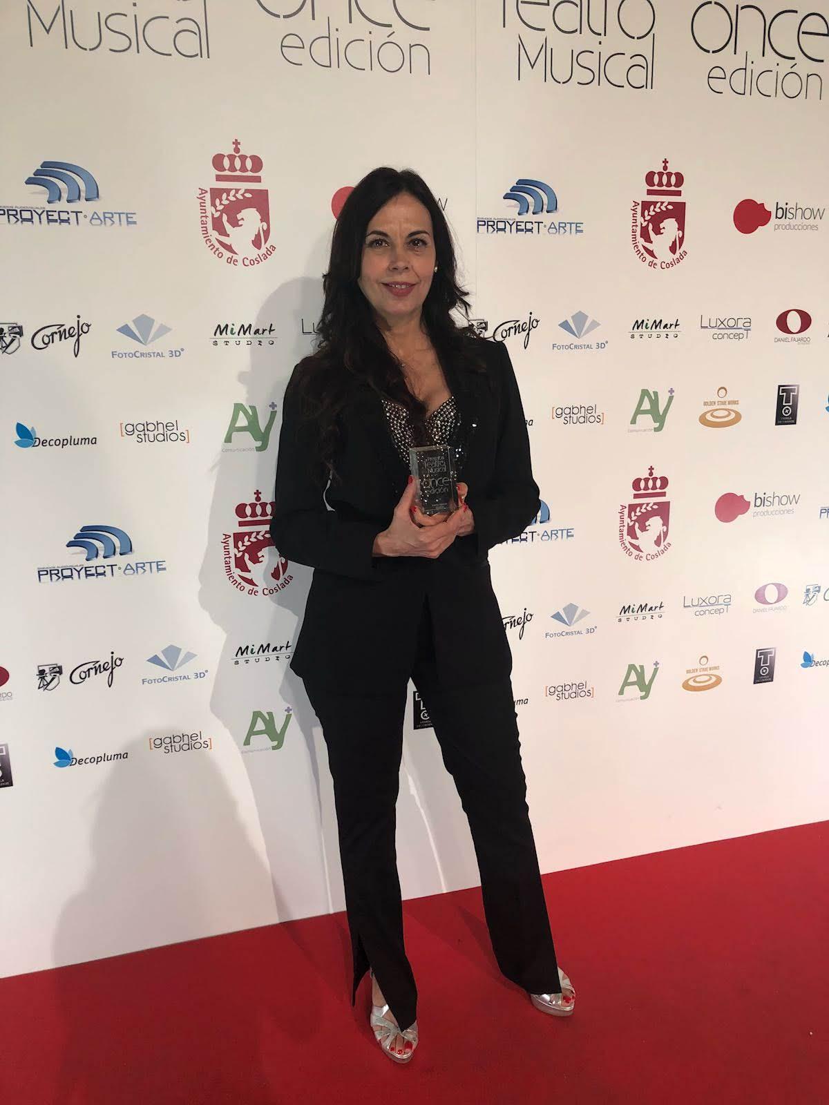Marisa Zafra con el Premio