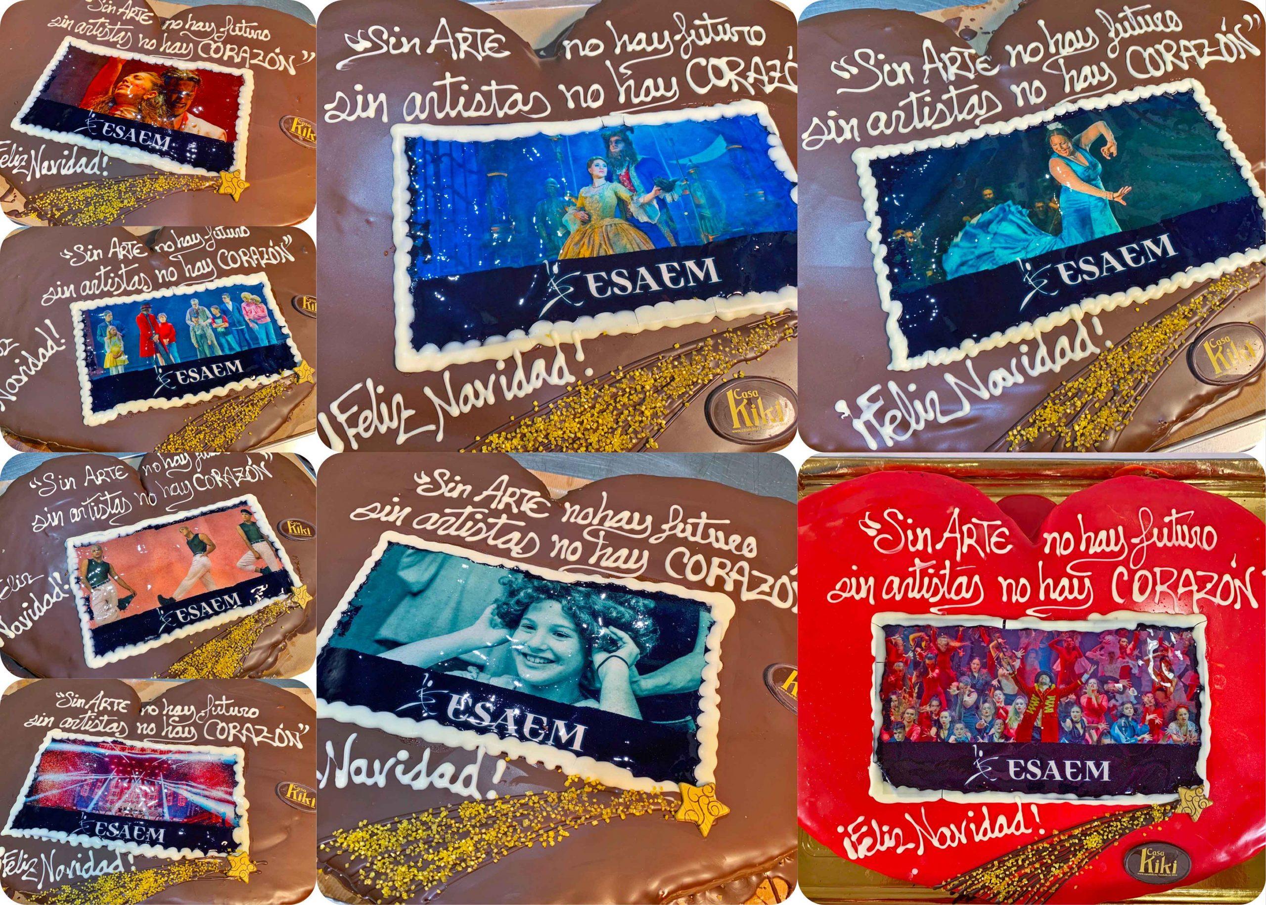 Corazones de palmera como regalo de navidad de esaem para diferentes artistas